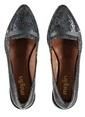 Marjin % 100 Deri Düz Ayakkabı Lacivert